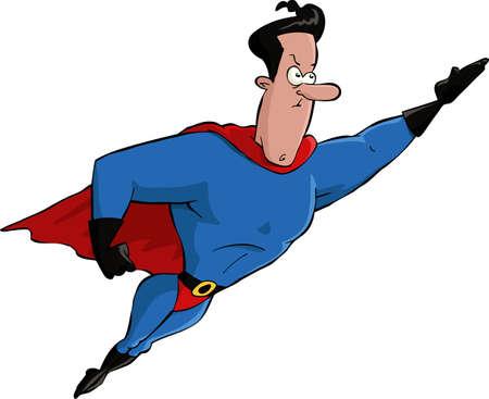 feat: Superh�roe en una ilustraci�n de fondo blanco