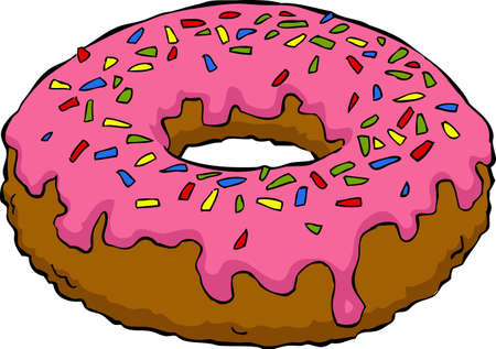 donut: Donut on a white background Illustration