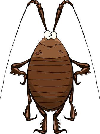 Kakkerlak op een witte achtergrond Vector Illustratie