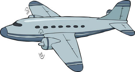 airplane cartoon: An airplane on a white background vector illustration