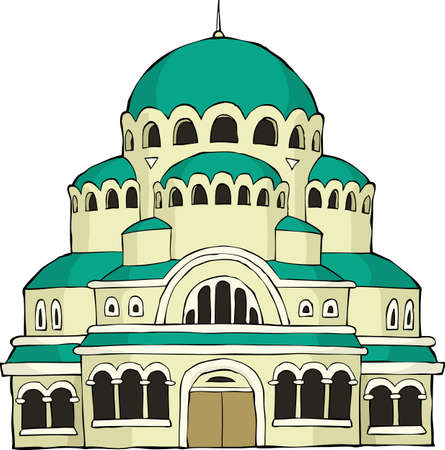 The Byzantine church on a white background vector illustration Vector