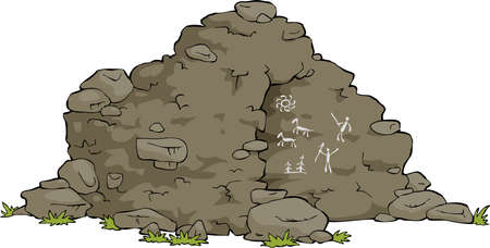 The cave is on a white background vector illustration
