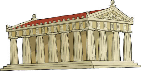 The Parthenon on a white background vector illustration