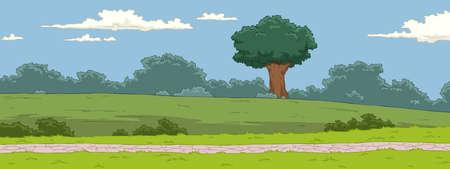 clouds cartoon: El paisaje natural de fondo de dibujos animados