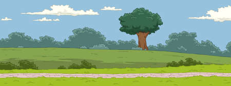 painting nature: The natural landscape cartoon background