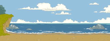 sea grass: The natural landscape cartoon background
