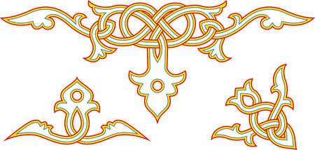 Decorative elements of slavic art vector illustration Vector