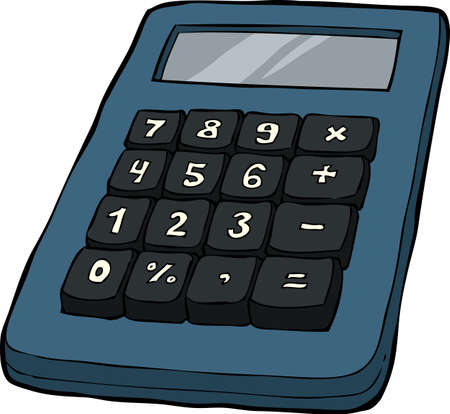 electronic devices: Calculator   Illustration