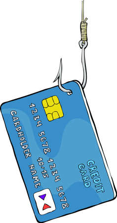 Credit card on the hook  Vector