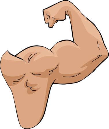 athlete cartoon: A strong arm