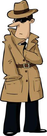 Spy chowa rękę na jego łonie Ilustracje wektorowe