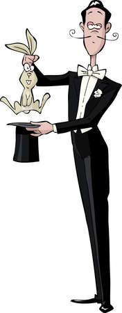 Magician op een witte achtergrond vector illustratie