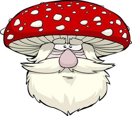 mushroom cartoon: Mushroom head on a white background vector illustration