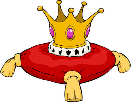 The crown on a red cushion