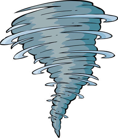 twister: Tornado on a white background Illustration
