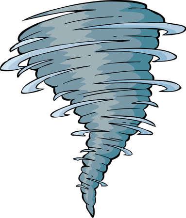Tornado op een witte achtergrond