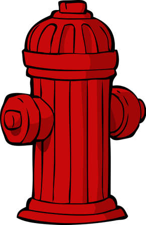 Hydrant on a white background illustration Vector