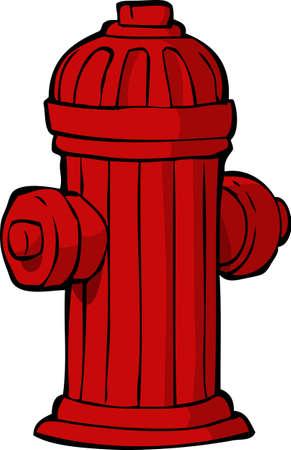 brandweer cartoon: Hydrant op een witte achtergrond illustratie