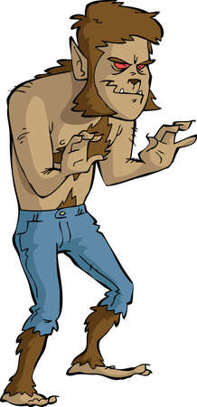 loup garou: Loup-garou sur un fond blanc illustration Illustration