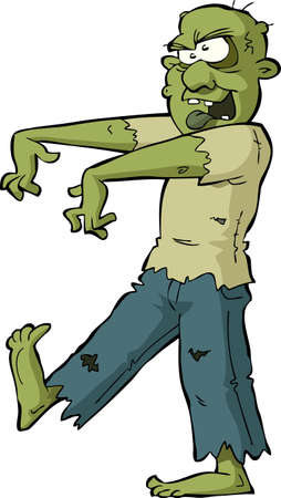 Zombie on a white background illustration Vector
