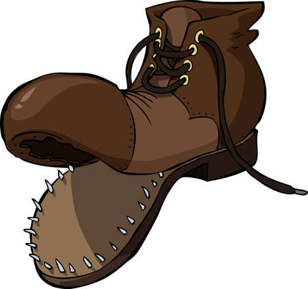 shoes cartoon: Old shoe on a white background vector illustration