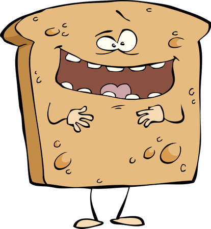 fried food: Toast on a white background vector illustration
