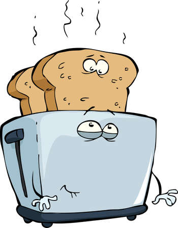 toast bread: Toaster  on a white background vector illustration