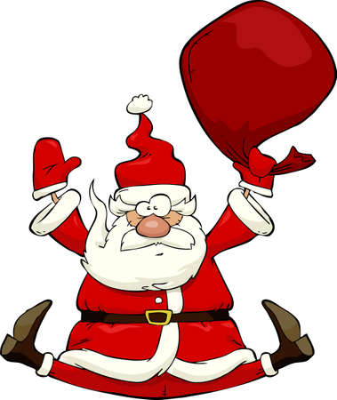 Santa Claus on a white background vector illustration Vector