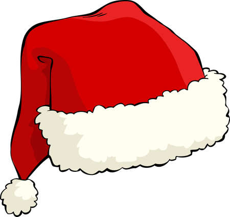Santas hat on a white background vector illustration