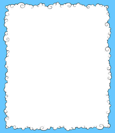 White clouds on a blue background vector illustration Stock Vector - 16359292