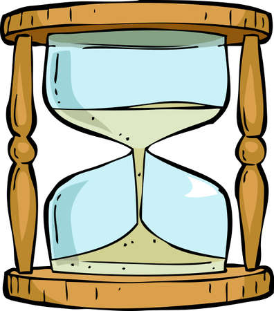 horologe: Hourglass on a white background illustration