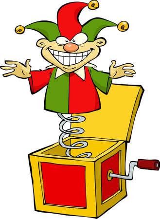 Cartoon Jack in the box illustratie