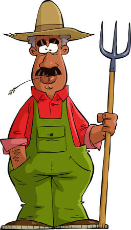 Farmer on a white background illustration