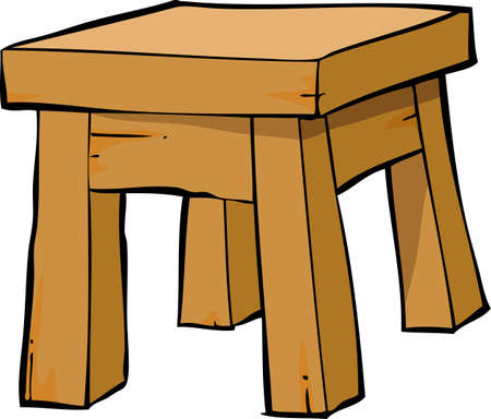 stools: Chair on a white background illustration Illustration