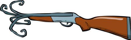 Shotgun barrel with a torn illustration Stock Vector - 17887337