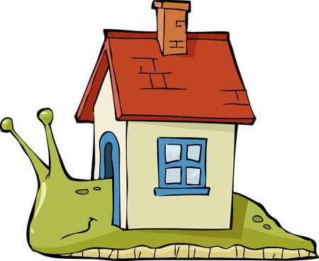 creeps: Caracol con una casa en la ilustraci�n de nuevo