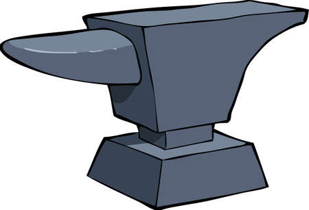 iron fun: Anvil on a white background