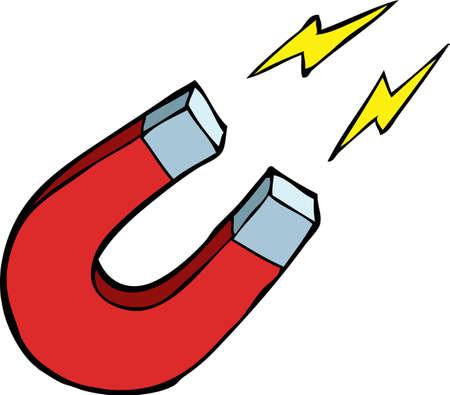 calamita: Magnete su uno sfondo bianco illustrazione Vettoriali