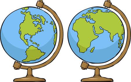 School globe on a white background vector illustration Stock Vector - 19291744