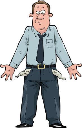 Een man met lege zakken