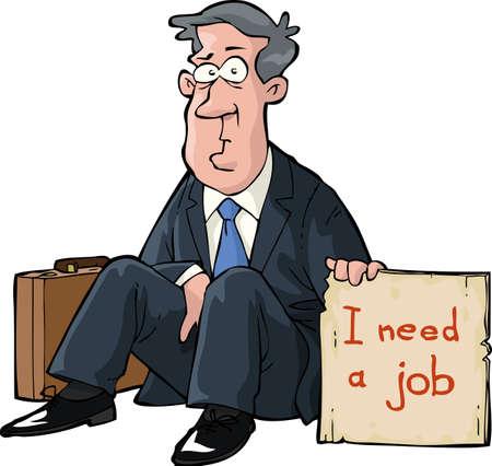 Ein Mann braucht einen Job Vektorgrafik