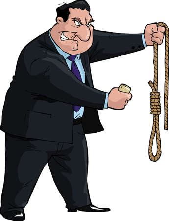 gallows: Man with soap and noose