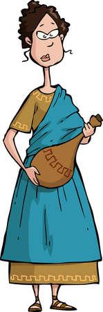 Citoyen romain sur un fond blanc
