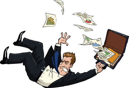 The falling man with documents  Vector