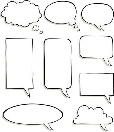 Set of comic speech bubbles vector illustration Illustration