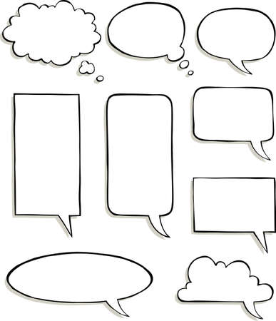 Set of comic speech bubbles vector illustration Illustration