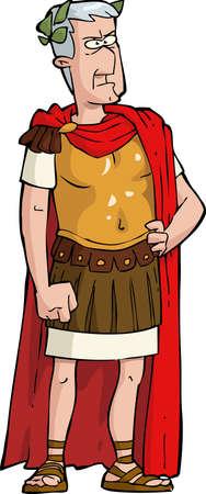 El emperador romano sobre un fondo blanco ilustración vectorial Ilustración de vector