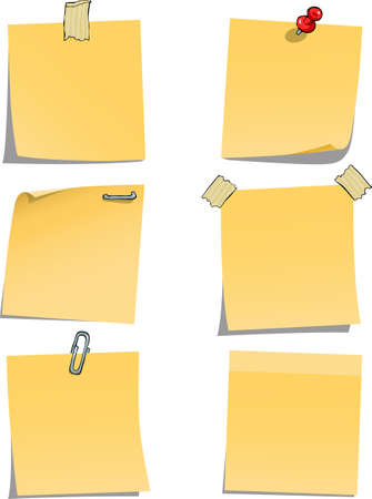 Adhesive notes on white background  Vector