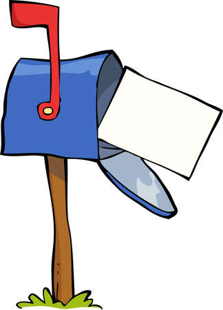 mailer: Mailbox on a white background vector illustration