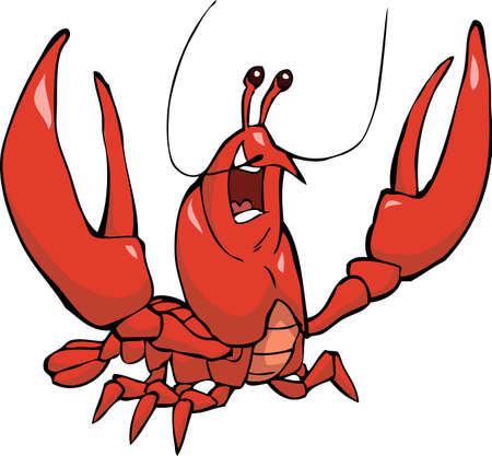 crayfish: Crayfish on a white background vector illustration